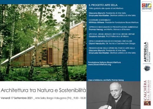 17 Settembre 2021 Architettura tra Natura e Sostenibilità con Thomas Herzog